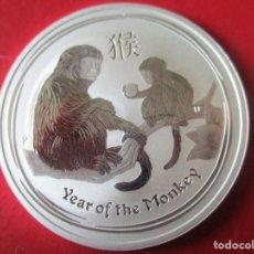 Monedas antiguas de Oceanía: AUSTRALIA ONZA DE PLATA PURA 2016 SIN CIRCULAR. AÑO DEL MONO. Lote 204333146