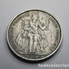 Monedas antiguas de Oceanía: 267,, MONEDA DE OCEANIA FRANCESA. 5 FRANCOS. AÑO 1952. ALUMINIO. CONSERVACION: MBC+. Lote 204432042