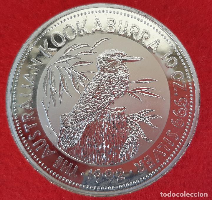Monedas antiguas de Oceanía: MONEDA DE PLATA PURA AUSTRALIA 10 ONZAS 1992 KOOKABURRA PROOF ORIGINAL - Foto 3 - 205138256