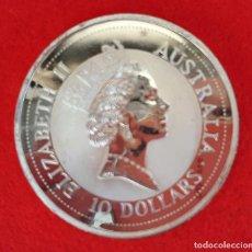 Monedas antiguas de Oceanía: MONEDA DE PLATA PURA AUSTRALIA 10 ONZAS 1992 KOOKABURRA PROOF ORIGINAL. Lote 205138256