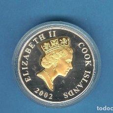 Monedas antiguas de Oceanía: PLATA-ISLAS COOK 1 DOLLAR 2002. 28,28 GRAMOS DE LEY 0,925. Lote 205280183