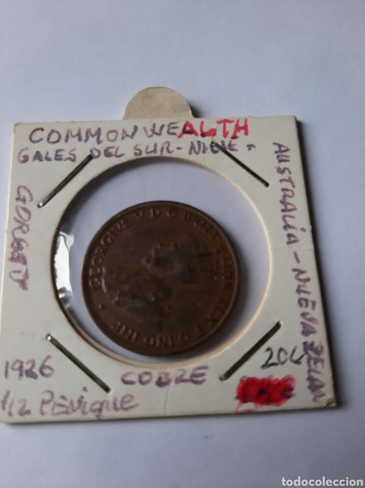 AUSTRAKIA NUEVA ZELANDA 1926 1/2 PENIQUE COMMON WEALH COBRE (Numismática - Extranjeras - Oceanía)