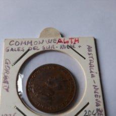 Monedas antiguas de Oceanía: AUSTRAKIA NUEVA ZELANDA 1926 1/2 PENIQUE COMMON WEALH COBRE. Lote 205305068