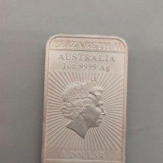 Monedas antiguas de Oceanía: MONEDA LINGOTE 1 ONZA PLATA 999 1 DOLAR 2018 AUSTRALIA. Lote 206256287