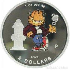 Monedas antiguas de Oceanía: COOK ISLANDS. GARFIELD 2 MONEDAS. Lote 207294710