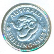 Monedas antiguas de Oceanía: AUSTRALIA 1 SHILLING - CHELÍN 1963 ( MBC- ) KM # 59 - ELIZABETH II - PLATA. Lote 208352730
