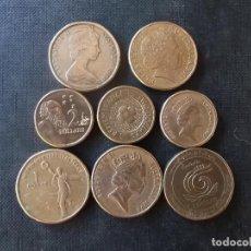 Monedas antiguas de Oceanía: CONJUNTO DE MONEDAS DE 1 Y 2 DOLARES DE AUSTRALIA VER FOTOS ALGUNAS CONMEMORATIVAS. Lote 209878736