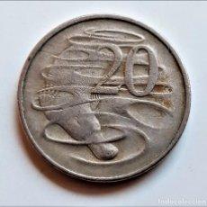 Monedas antiguas de Oceanía: 20 CENTAVOS 1966 AUSTRALIA. Lote 210153582