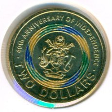 Monedas antiguas de Oceanía: ISLAS SALOMÓN 2 DÓLARES 2018 ( SC ) UC # 100 - 40º ANIVERSARIO - INDEPENDENCIA. Lote 210261247