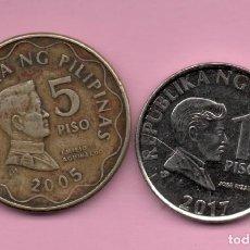 Monedas antiguas de Oceanía: FILIPINAS 1 PISO + 5 PISOS. Lote 210432505