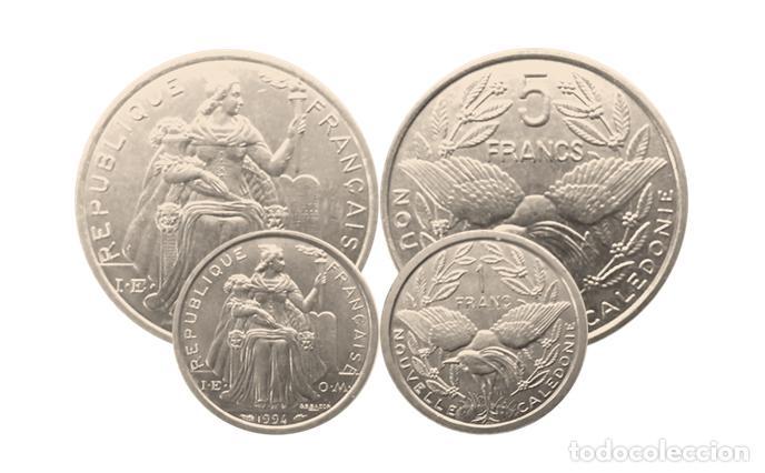 NUEVA CALEDONIA 1 Y 5 FRANCOS-SC, (COLONIA FRANCESA) (Numismática - Extranjeras - Oceanía)