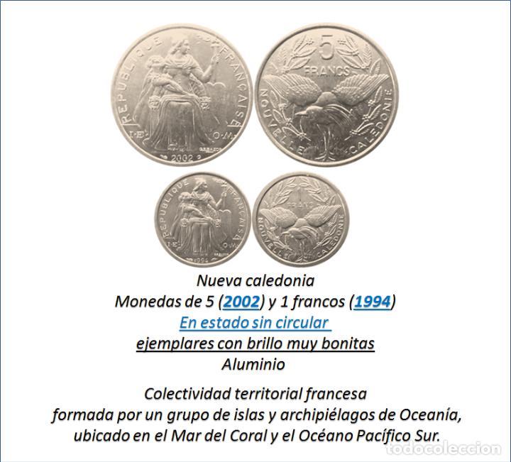 Monedas antiguas de Oceanía: NUEVA CALEDONIA 1 Y 5 FRANCOS-SC, (COLONIA FRANCESA) - Foto 2 - 210443542