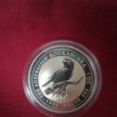 Monedas antiguas de Oceanía: 1 DOLLAR 1995 AUSTRALIA PLATA 999, 31 GR KOOKABURRA. Lote 210807279