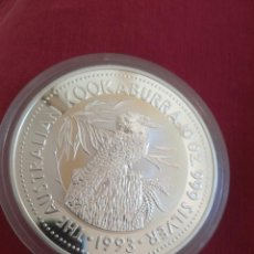 Monedas antiguas de Oceanía: 10 DOLLARS AUSTRALIA 1993 10 OZ PLATA 999 311 GR KOOKABURRA. Lote 211272230