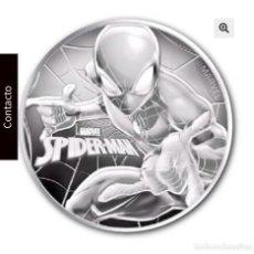 Monedas antiguas de Oceanía: ONZA PLATA. TUVALU 2017. SPIDERMAN. Lote 211576977