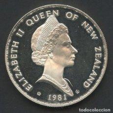 Monedas antiguas de Oceanía: NUEVA ZELANDA, MONEDA DE PLATA, ROYAL VISIT, DOLLAR, 1981, COIN SILVER PROOF. Lote 211733294