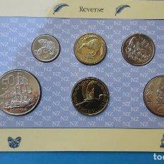 Monedas antiguas de Oceanía: NUEVA ZELANDA. SET DE 6 VALORES. 5, 10, 20 Y 50 CTS. Y 1 Y 2 DOLARES. 1990. SC.. Lote 211897512