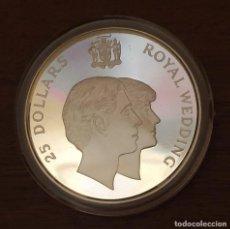 Monedas antiguas de Oceanía: 25 DOLLARS ROYAL WEDDING - PLATA - ELIZABET II - JAMAICA - 1981.. Lote 212227553