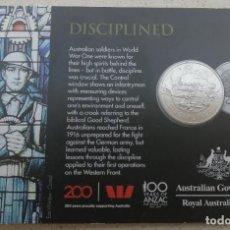Monedas antiguas de Oceanía: MONEDA CONMEMORATIVA - AUSTRALIA 2018 - 20 CENTAVOS - DISCIPLINED - HOMENAJE PRIMERA GUERRA MUNDIAL. Lote 212251970