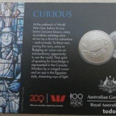 Monedas antiguas de Oceanía: MONEDA CONMEMORATIVA - AUSTRALIA 2018 - 20 CENTAVOS - CURIOUS - HOMENAJE PRIMERA GUERRA MUNDIAL. Lote 212252113
