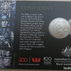 Monedas antiguas de Oceanía: MONEDA CONMEMORATIVA - AUSTRALIA 2018 - 20 CENTAVOS - CONFIDENT - HOMENAJE PRIMERA GUERRA MUNDIAL. Lote 212252206