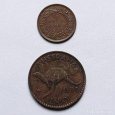 Monedas antiguas de Oceanía: WWII 1/2 PICE INDIA 1939C + PENNY AUSTRALIA 1939.. Lote 212284996