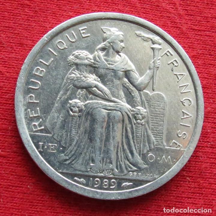 Monedas antiguas de Oceanía: Polinesia Francesa 2 francos 1989 Polynesie - Foto 2 - 213433077