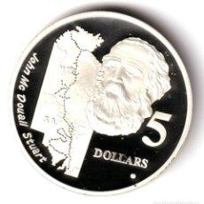 Monedas antiguas de Oceanía: AUSTRALIA 5 DOLARES PLATA 1994 PROOF SIR JOHN MCDOUALL STUART - EXPLORADORES. Lote 213723185