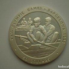 Monedas antiguas de Oceanía: 50 DOLARES 1989 NIUE CONMEMORATIVA OLIMPIADAS BARCELONA 1992 – REMO 28,28GR (AG 925). Lote 213972708