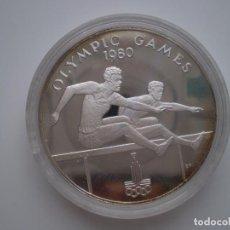 Monedas antiguas de Oceanía: 10 TALA 1980 SAMOA. OLYMPIC GAMES. ( PACIFIC ISLANDS ) 31,47 GR (AG 925) PROOF.. Lote 213977130