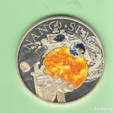 Monedas antiguas de Oceanía: PLATA-IS.COOK. 10 DOLLARS 2013. NANO SPACE. 50 GRAMOS DE LEY 0,925 KM#1648. Lote 214979432