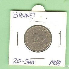 Monedas antiguas de Oceanía: BRUNEI. 20 SEN 1984. CUPRONÍQUEL. KM#18. Lote 215967528