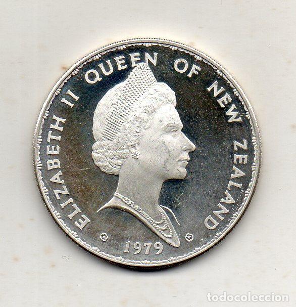 Monedas antiguas de Oceanía: Nueva Zelanda. 1 Dólar. Año 1979. Plata. Prueba Numismática. - Foto 2 - 216024082