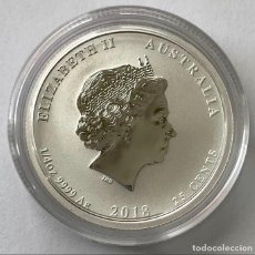 Monedas antiguas de Oceanía: AUSTRALIA - 25 CENTS 2018 - YEAR OF THE DOG - COLOR - 1/4 OZ – PLATA FDC. Lote 216621841