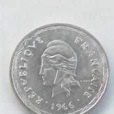 Monedas antiguas de Oceanía: NUEVAS HEBRIDAS 100 FRANCOS DE PLATA 1966. Lote 217481311