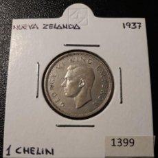 Monedas antiguas de Oceanía: NUEVA ZELANDA 1 CHELÍN 1937. Lote 217583487
