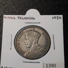 Monedas antiguas de Oceanía: NUEVA ZELANDA 1 FLORIN 1934. Lote 217583621
