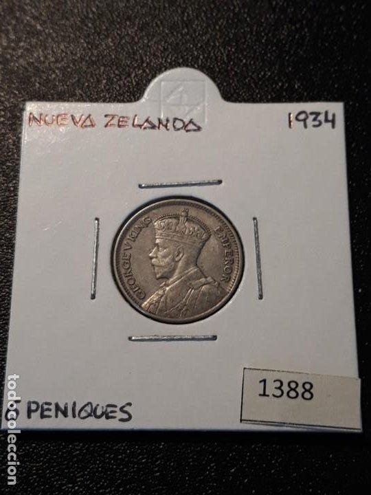 NUEVA ZELANDA 6 PENIQUES 1934 (Numismática - Extranjeras - Oceanía)