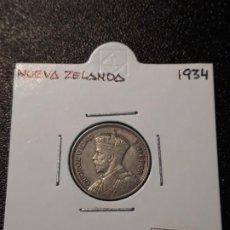Monedas antiguas de Oceanía: NUEVA ZELANDA 6 PENIQUES 1934. Lote 217583647