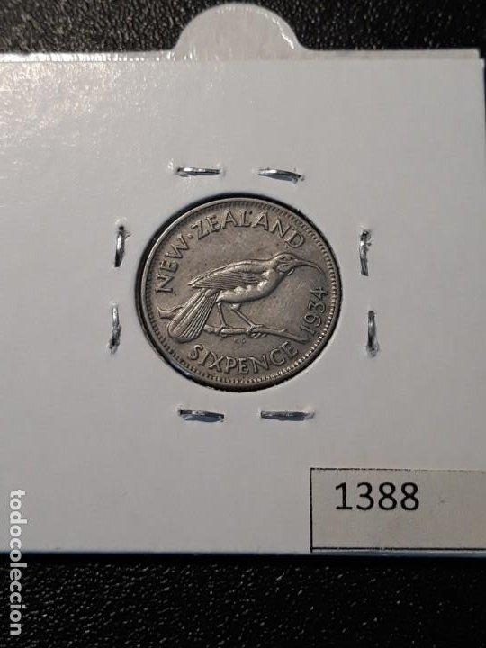 Monedas antiguas de Oceanía: Nueva Zelanda 6 peniques 1934 - Foto 2 - 217583647