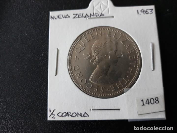 NUEVA ZELANDA MEDIA CORONA 1963 (Numismática - Extranjeras - Oceanía)