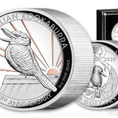 Monedas antiguas de Oceanía: AUSTRALIAN KOOKABURRA 2020 - 30TH ANNIVERSARY 5 OZ SILVER - PROOF. Lote 218287005