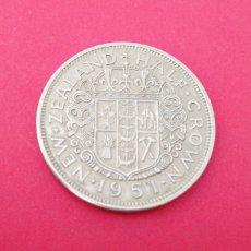 Monedas antiguas de Oceanía: 1/2 CORONA DE NUEVA ZELANDA 1951. Lote 218506453
