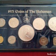 Monedas antiguas de Oceanía: SET MONEDAS DE PLATA BAJAMAS 1971, 5 DOLLAR TEMA BARCOS, PEZES, AVES. Lote 218602047