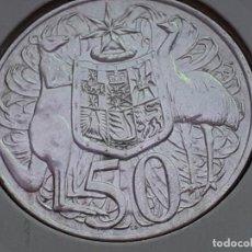 Monedas antiguas de Oceanía: AUSTRALIA 50 CENTAVOS/CENTS 1966 (SIN CIRCULAR). Lote 218682825