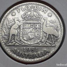 Monedas antiguas de Oceanía: AUSTRALIA 2 CHELINES O FLORIN 1951. Lote 218688893