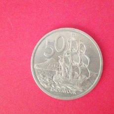 Monedas antiguas de Oceanía: 50 CENTS DE NUEVA ZELANDA 1969. Lote 218988797