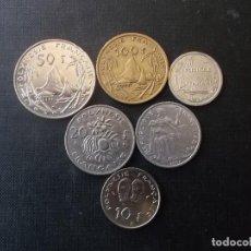 Monedas antiguas de Oceanía: CONJUNTO DE 6 MONEDAS DE LA POLYNESIA FRANCESA. Lote 220734238