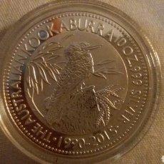 Monedas antiguas de Oceanía: PRECIOSA MONEDA AUTRALIA KOOKABURRA 2015 1 ONZA. Lote 220868307