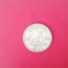Monedas antiguas de Oceanía: 1 CHELIN DE FIJI 1942. PLATA. Lote 221438263